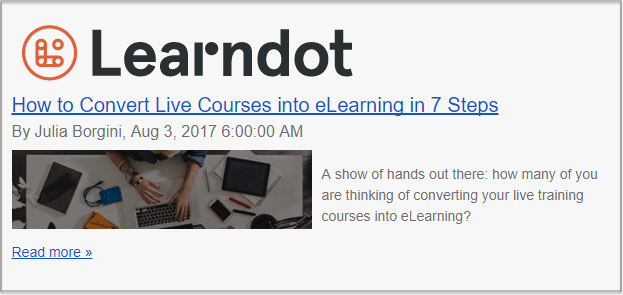 Learndot Post - Repurposing Content - eLearning and Trainers