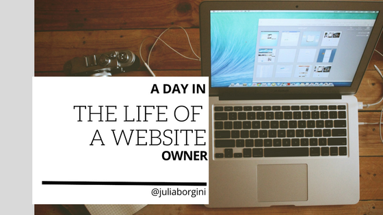 A day in the life of a website owner