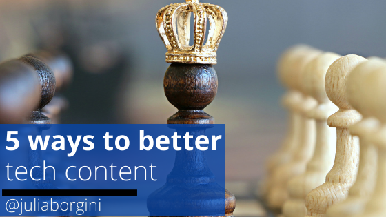 5 ways to better tech content - spacebarpress.com