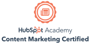 Julia Borgini is Hubspot certified in Content Marketing